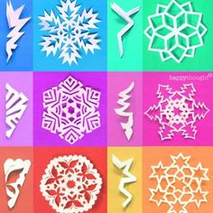 DIY Halloween snowflake templates: Holiday decorations • Happythought Paper Snowflake Template, Paper Snowflake Patterns, Snowflake Craft, Christmas Snowflakes, Christmas Crafts, Christmas Decorations, Paper Snowflakes, Diy Snowflake Decorations, Paper Stars