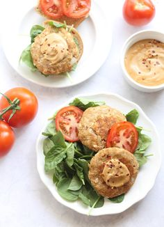 Asian Tuna Burgers with Ginger Soy Cashew Cream | Hummusapien