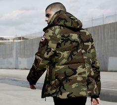 Camo Fashion, Men's Fashion, Winter Fashion, Fashion Trends, Warm Outfits, Winter Outfits, Ss16, Canada Goose Parka, Canada Goose Mens