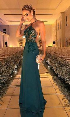 Custom Made Halter Prom Dress,Beaded Prom Dress,Fashion Prom Dress,Sexy Party Dress