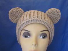 Crochet Animal Ear Warmers Brown Bear by MagicalStrings on Etsy