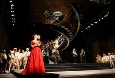 Matilde di Shabran from the Rossini Opera Festival. Production by Mario Martone. Sets by Sergio Tramonti.