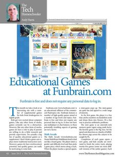 Educational Games at Funbrain.com The Homeschool Magazine - June 2013 - Page 82-83