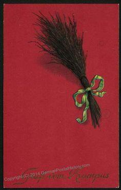 Image 2 of Czech 1922 Krampus Christmas Postcard
