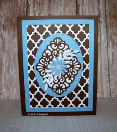 Ann Greenspan's Crafts: Brown and Blue with Lattice Too