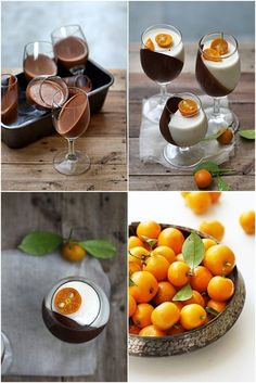 Dark Chocolate & Orange Panna Cotta - wowza! via passionateaboutbaking.com