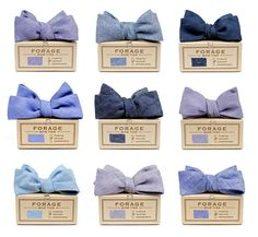 Forage bow ties - blue valentine collection. They come in neck ties too! Look at all that denim and chambray goodness!