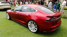 On the road and stylistically the Tesla Model S is an outstanding piece of automotive engineering and design. But if you're a performance mod-guru like Steve Saleen, you see room for improvement. I spoke to him on Pebble Beach's concept lawn about the transformed Tesla FourSixteen.