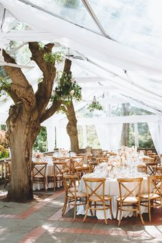 Outdoor Day Venue, Shaded Over by White Tent Graydon Hall Manor Venue | Photography: Mango Studios