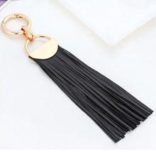 Gold Tassle Leather Keychain Fur Pompom Keychain keyring porte clef llavero Gold Filled Key Chain For Bag Charm navidad regalo(China (Mainland))