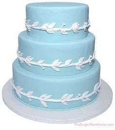 wedgwood wedding cake | Wedgwood China Pattern Wedding Cake by The Sugar Syndicate, via Flickr