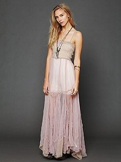 Free People Tulle Maxi Slip at Free People Clothing Boutique