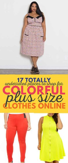17 Completely Underrated Places To Find Colorful Plus-Size Clothes