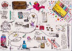 around-the-house-sketchbook: Różności   Sketchbook, coloured pen, fine liner