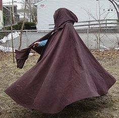 Custom Color Cotton Twill Full Circle Cloak by CamelotCreationscom, $125.00