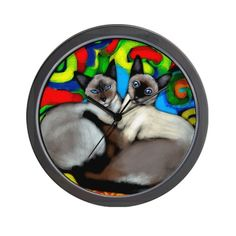 Siamese Cats Wall Clock