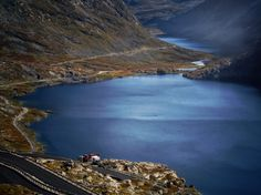 Lake Djupvatnet, a glacial lake near the Dalsnibba mountain summit in Geiranger, Norway  3,333 ft (1,016 metres) above sea level. © Jim Hill