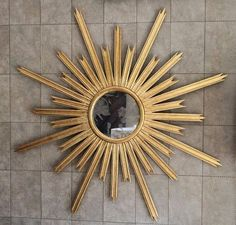 Midcentury starburst decorative mirror
