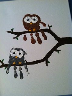 Emma's Diary: Easy Crafts For Kids - Owl Hands