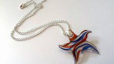 Pretty murano star pendant on chain - The Supermums Craft Fair
