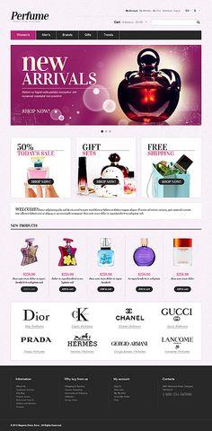 #Magento Online #Perfume Store theme