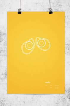 Minimalist Posters of Pixar Movies by Wonchan Lee