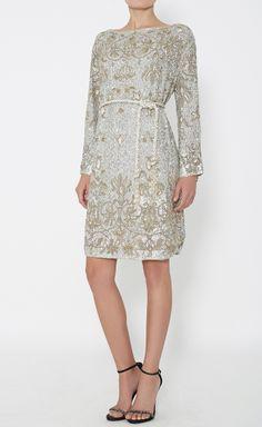 Marchesa Metallic Gold And Silver Dress   VAUNTE