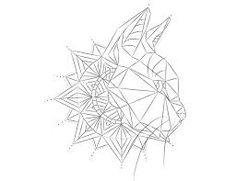 Image result for black cat geometric tattoos