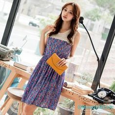 Buy 'OrangeBear – Lace-Yoke Floral Tank Dress' with Free International Shipping at YesStyle.com. Browse and shop for thousands of Asian fashion items from Taiwan and more!