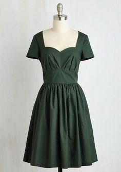 Charm Convention Dress in Forest $89.99 AT vintagedancer.com