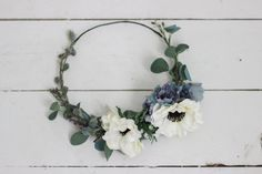 Flower crowns for the bridesmaids, Stevi Marie on Etsy makes such beautiful…