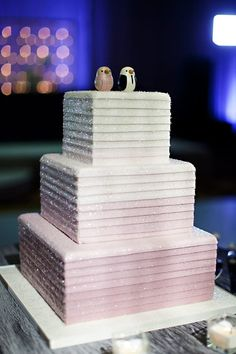 My amazing Ombre Crystal Wedding Cake. Salted caramel buttercream and buttermilk cake inside. Photo by Stephanie Fay!