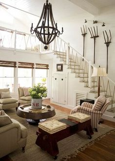 Wood Chandelier | ... Wood Chandeliers {wine barrel chandelier} - Home Stories A to Z