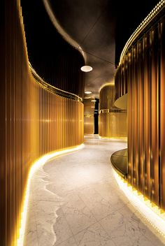 This could be an amazing spa corridor. Neo 200 Apartments in Melbourne By Hayball Architects.