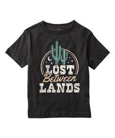 Look what I found on #zulily! Black 'Lost Between Lands' Tee - Toddler & Kids #zulilyfinds