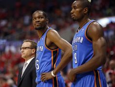Oklahoma City's Kevin Durant (35) reacts to a foul called on him during Game 3 of the Western Conference semifinals in the NBA playoffs between the Oklahoma City Thunder and the Los Angeles Clippers at the Staples Center in Los Angeles, Friday, May 9, 2014. Photo by Nate Billings, The Oklahoman