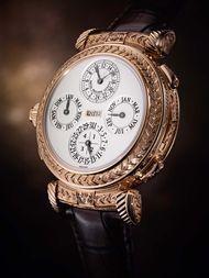 Těchto 20 komplikace v nových Patek Philippe Grandmaster Odbíjení Ref.  5175 watch patří Grande a drobná Sonnerie (dříve zvonění čtvrtletí a celý hodiny tak dlouho, dokud se navíjí hodinky, druhý jen hodiny) a minutu opakovač.