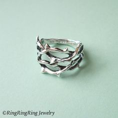 Anillo de espina único anillo joyería de plata esterlina