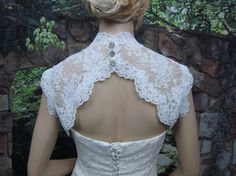 This is my favorite shrub/bolero! My expert on shrugs strongly recommends this style with lace verses the other shear one! Let's dream it!