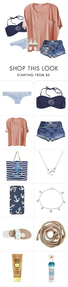 """⚓️"" by rileykleiin ❤ liked on Polyvore featuring J.Crew, Clu, Abercrombie & Fitch, Giani Bernini, Jack Rogers, Forever 21, Not Your Mother's and Ray-Ban"