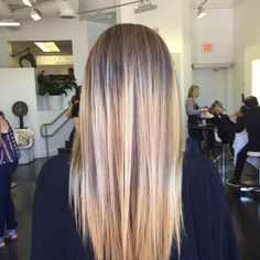 Striaght hair with balayage by Jimmy Hilton
