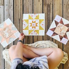 Little Miss Sawtooth Quilt Along – #2 – Millie, Josephine and Sadie