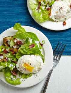 Poached Egg Salad Recipe. A fresh dinner or breakfast!