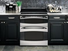 GE slide-in electric double oven (Model PS978STSS)