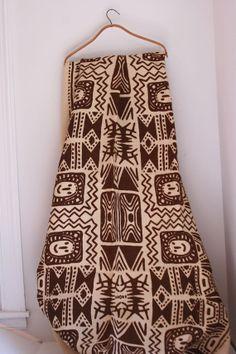 Vintage burlap fabric tribal motif 3 yards by fuzzymama on Etsy, $35.00