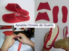 Sandal Hotel Sewing Slippers Flip Flop Sandals Flip Flops Handmade Crafts Fabric Art Fabric Crafts How To Make Shoes Ciabatta Sewing Slippers, Elf Slippers, Winter Slippers, Cute Slippers, Sewing Hacks, Sewing Tutorials, Sewing Patterns, Sandal Hotel, How To Make Shoes