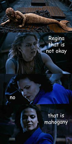 "The time Regina mermade quite the mess. | 24 Jokes Only ""Once Upon A Time"" Fans Will Understand"