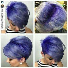 Purple Gray Pixie P I N ➕ E R E S ➕: @TyeGarcia