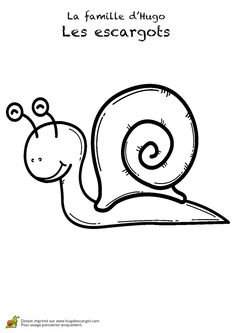 Dessin Pour Enfant D Un Petit Escargot Parfait Pour Ses Debuts En