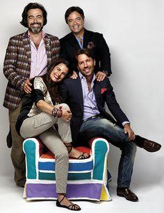 Family Portraits: Veronica Etro, Kean Etro, Ippolito Etro and Jacopo Etro.